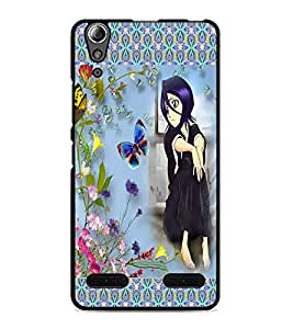 PrintDhaba Sad Girl D-4064 Back Case Cover for LENOVO A6000 PLUS (Multi-Coloured)