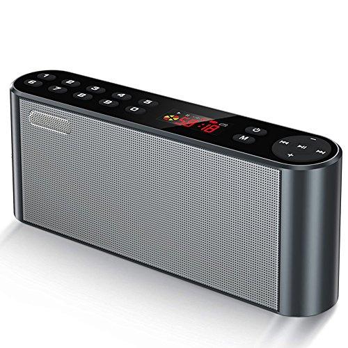 ieleacc Outdoor Wireless Stereo Lautsprecher, Tragbarer Bluetooth Lautsprecher, mit HD Audio und Freisprecheinrichtung, Bluetooth 4.2, Freisprechen und TF Card Slot