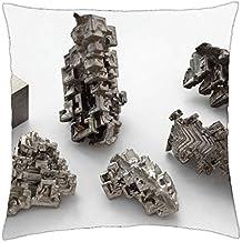 """Bismuth cristales y bismuto cubo–Funda de almohada manta (16""""x 16)"""