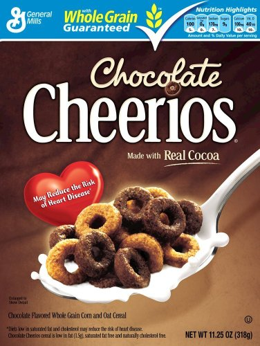 General Mills Cheerios Chocolate Flavored Cereal, 318 Gms