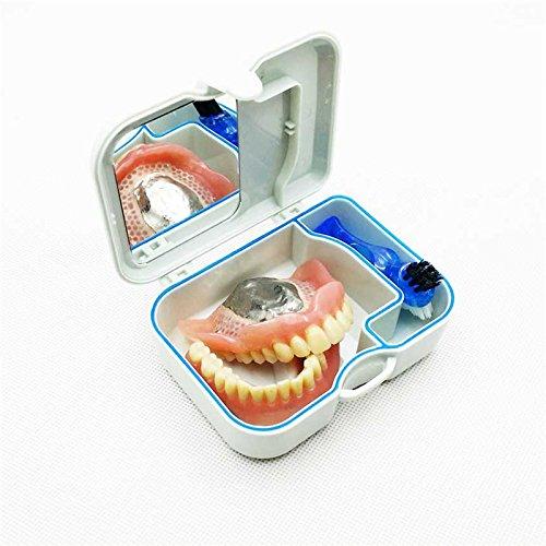 Bluelover Mini Boîte De Retenue De Dentition Avec Miroir Clening Pinceau Kits De Soins Buccodentaires