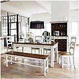 Moebella Essgruppe Essecke Massiv Holz BODDE Used Look Vintage Tisch Set Shabby Style