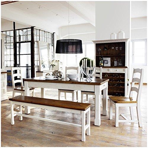 Essgruppe Essecke Massiv Holz BODDE Used Look Vintage Tisch Set Shabby Style