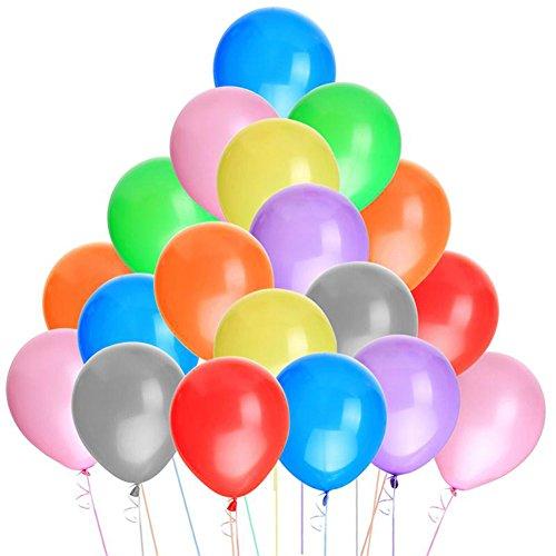 CAOLATOR 100 Stück Latex Ballons 10 Zoll Luftballons Bunt Wiederverwendbarer Rundballons Hochzeit Geburtstag Weihnachten Party Valentines Dekoration