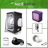 Nice Grow Growset 60 Dark Box LED Cultilite 75W Abluft Vollspektrum