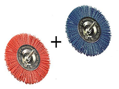 2 Stück Scheibenbürste Nylon grob und fein Durchmesser 50 mm