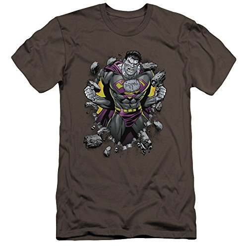 Superman - - Bizzaro Breakthrough Premium Slim Fit T-Shirt für Männer, XX-Large, Charcoal