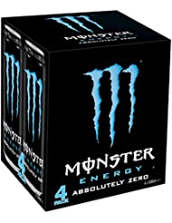 Monster Absolute Zero Cans, 4 x 500 ml