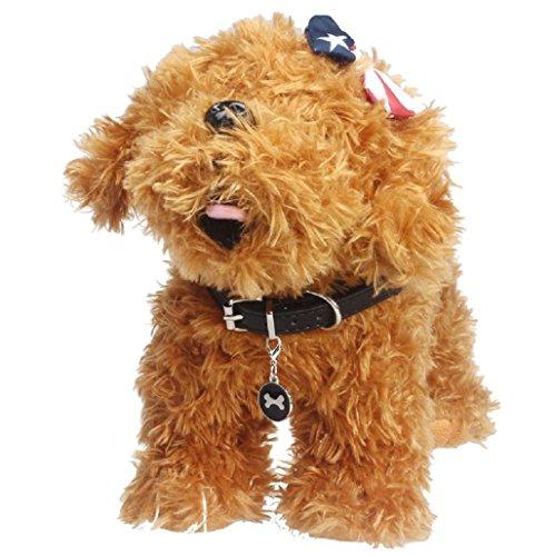 Sannysis huesos de la joyería mascotas perros accesorios collar (Negro)