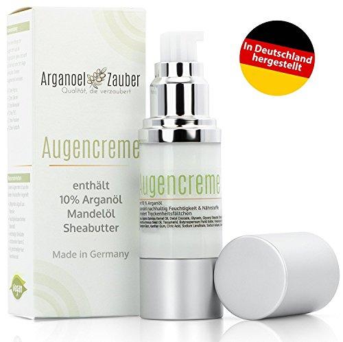 Augencreme mit 10% Arganöl | spendet Feuchtigkeit ohne zu reizen | effektive Augenpflege gegen...