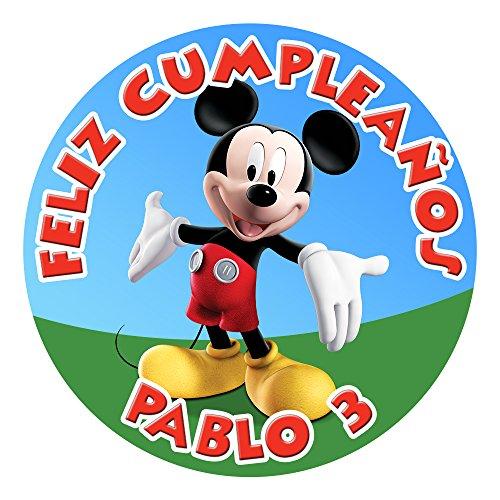 OBLEA de Papel de azúcar Personalizada, 19 cm, diseño de Disney Mickey...