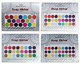 #9: MI Fashion Roop Nikhar Multicolor 120 Shades Plain Round Size Luxury Quality Bindi Set of 4 Pcs