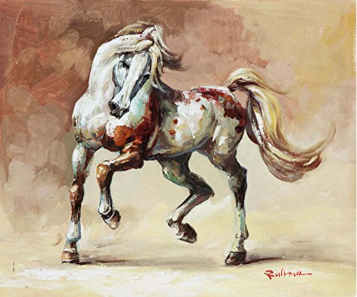 Leinwandbilder – Pferde Tanzt Tier Malerei Kunstdrucke – 40X40 cm