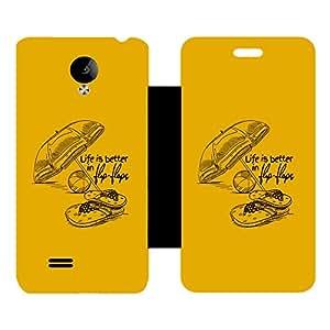 Skintice Designer Flip Cover with hi-res printed Vinyl sticker wrap-around for Vivo Y21