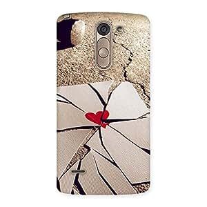 Gorgeous Broken Heart Ace Print Back Case Cover for LG G3 Stylus