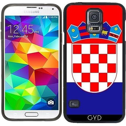 Funda de silicona para Samsung Galaxy S5 (SM-G900) - La Bandera De Croacia by BruceStanfieldArtist