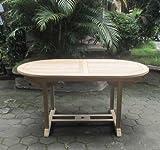 SAM Garten-Tisch Aruba, Gartenmöbel aus Teak-Holz, Auszieh-Tisch (180 - 240 cm) mit Schirmloch, Terrassen-Möbel aus Holz, Teakholz-Möbel mit geschliffener Oberfläche, Massivholz-Möbel für Garten oder Terrasse