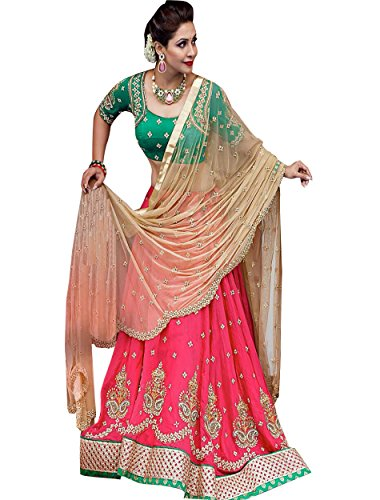 Edeal Online New Latest Designer Pink Bangalori Silk Bollywood Style Dress Material...