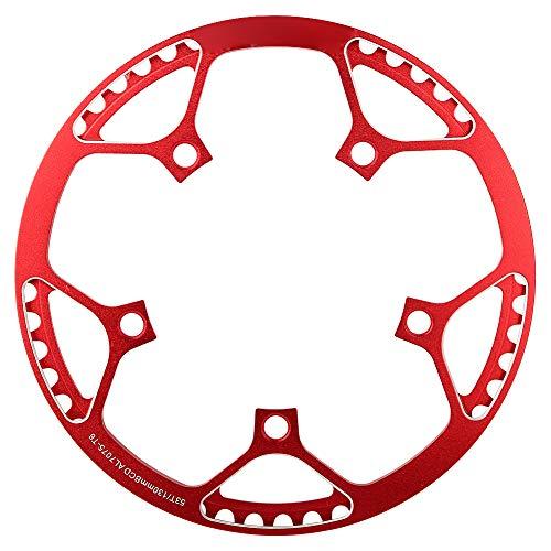 Alomejor Fahrradkettenring Aluminiumlegierung Mountainbike Vordere Kettenblatt Einzelkette Ring für 53 T Mountainbike(Rot)