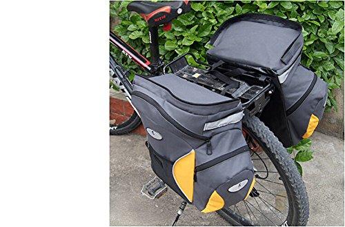 West Radfahren Fahrrad Lebensmittels Panniers 65L Radfahren Trunk double-bag Rack Korb Bike hinten Tasche mit rain-cover gelb