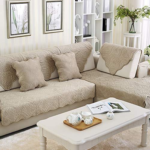 TSSCY Sofabezug 1 stück, Sofa Überwurf Couch schutzhülle Anti-rutsch Plüsch Couch-abdeckungen Stuhl beschützer Sofa wirft Sessel Loveseat Liege-beige 70x150cm(27.5x59inch)