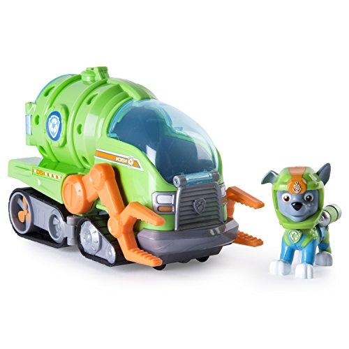 Paw Patrol Basic Vehicle Sea Patrol Rocky vehículo de juguete - vehículos de juguete (Verde, Gris, Naranja, 3 año(s), Niño/niña, Interior, China, 1 pieza(s))