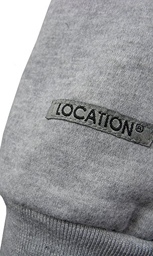 Location - Herren Designer Kapuzen Sweatshirt Kapuzenpulli Langarm Suit Männer Trainingsanzug Sport Komplettes Läufeset Fleece Jumper Sportbekleidung Mergel Grau / Hellblau