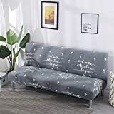 Home Live Sofaüberwurf Sofaüberzug Sofahusse Sofa-Überwürfe Stretch-Sofabezug ohne Armlehnen, einfach und modern faltbar, 195-220cm