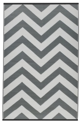 Fab Hab Reversible Outdoor/Indoor Rug | Perfect for Decking, Garden, Patio | Mold, Mildew, UV & Stain Resistant | Laguna - Paloma & White | 180 cm x 270 cm