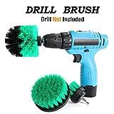 HENGQIANG Drill Brush Power Scrubber Attachment Kits, 3 Stück Reiniger Scrubbing Bürsten für Allzweck-Badezimmer Oberfläche, Fugenmasse, Wanne, Dusche, Küche (gelb)