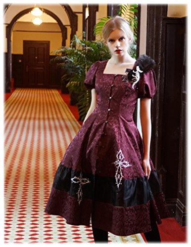 Fanplusfriend - Robe - Encolure carrée - Femme Bordeaux