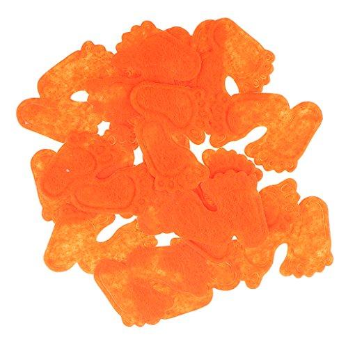 een Baby Füße Konfetti Baby Dusche Geburtstagsfeier Konfetti Dekor - Orange ()