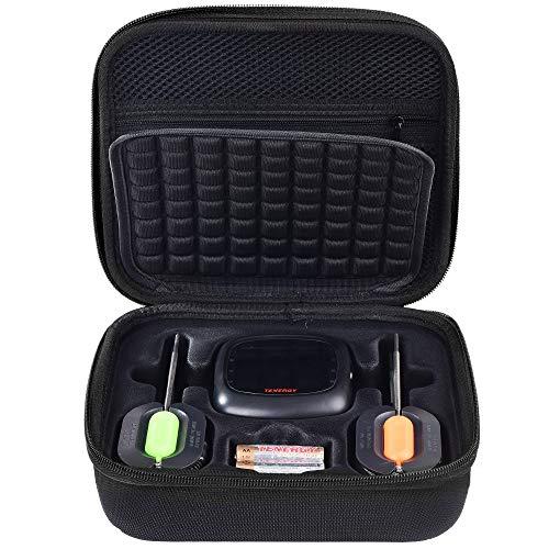 PAIYULE Paaiyule Schutzhülle für Tenergy Solis Digitales Fleischthermometer, auch passend für Soraken GM-001 Digitales Fleischthermometer, kabellos, Bluetooth, Smart BBQ Thermometer, Schwarz Gm Bluetooth