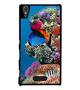 printtech Fish Ocean Coral Back Case Cover for Sony Xperia T3