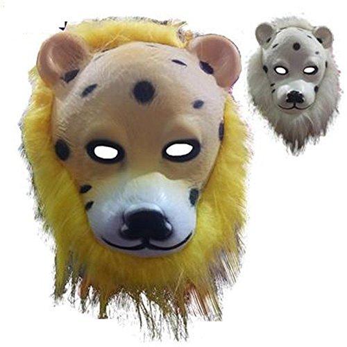 ParttYMask Maskerade,Tier Maske Löwe Wolf Orang-Utan AFFE Leopard Kind Spielzeug Leopard ()