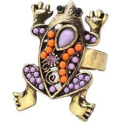 Anillo Rana hecha con esmalte y cristal por Joe Cool