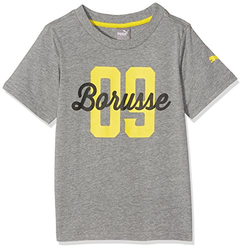 Sucht Tee (PUMA Kinder Bvb Borusse Tee T-Shirt, Medium Gray Heather, 140)