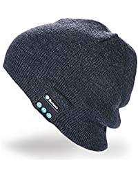 Hebey Bluetooth Music Soft Warm Beanie Hat Cap con cuffia stereo Headset  Speaker Mic senza fili 114a82aef996