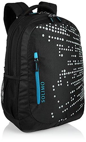 Best best backpack brands in India 2020 Amazon Brand - Solimo Laptop Backpack for 15.6-inch Laptops (29 litres, Black) Image 2