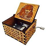 HLZK Pirates of The Caribbean Musik Box, Antik Geschnitzt Holz Davy Jones Captain Jack Spieldosen Geburtstag Geschenk