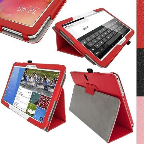 igadgitz Rojo Eco-Piel Funda Carcasa para Samsung Galaxy Tab Pro 10.1