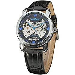 LEORX Premium Men Boy Fashion Hollow Style Automatic Mechanical Wrist Watch - 1 Piece
