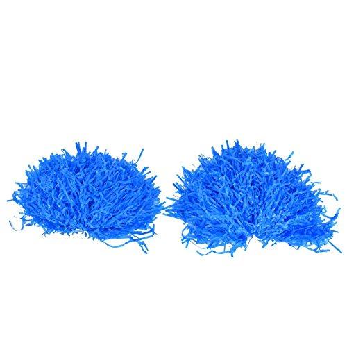 Paar Urlaub Kostüm - Dilwe Pom Poms Cheerleading, 1 Paar schöne Qualität Pompons für Cheerleadering-Kommads, Party, Kostüm, Urlaub, Bühne, Performance und Sport, blau