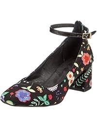 CUPLÉ Flores, Zapatos con Tira de Tobillo para Mujer