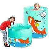 Aufblasbare Badewanne Kinder Big Fish Alloy Stand Planschbecken Material: Umweltschutz Nylon, Perle...