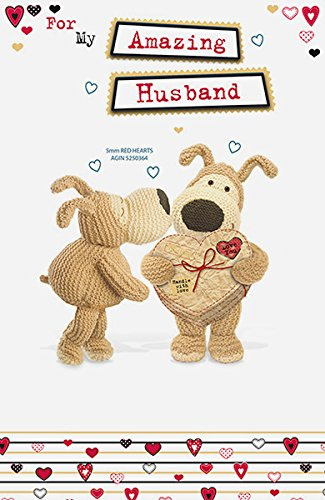 Boofle Amazing Husband Valentine's Day Card Cute Greeting Cards
