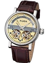 AUER Classic Collection BA-511-BrSBrL Reloj Automático para hombres 2 volantes abiertos