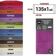 ADP Home - Funda de almohada lisa 144 hilos (de 135 cm), purpura