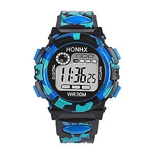 Mode Kinder Kind Junge Mädchen Uhren Multifunktion Wasserdicht Sport Elektronisch Armbanduhr Uhr Groveerble