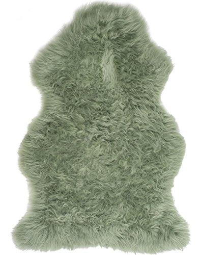 Verbergen Sahne (Lambland Handbearbeitet Qualität britischen Schaffell Teppich in Salbeigrün - Größe 1 verbergen)